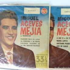 Discos de vinilo: MIGUEL ACEVES MEJIAS // DOS DISCOS 33 /7 1958 // EP. Lote 191785012