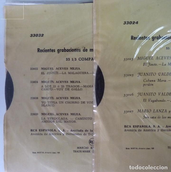 Discos de vinilo: MIGUEL ACEVES MEJIAS // DOS DISCOS 33 /7 1958 // EP - Foto 2 - 191785012