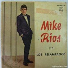 Discos de vinilo: MIKE RIOS Y LOS RELAMPAGOS // UNA VOZ EXTRAÑA+3 // 1963 // EP. Lote 191788243