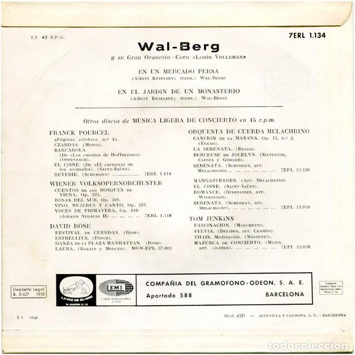 Discos de vinilo: A. Ketelbey transcripción De Wal-Berg - En Un Mercado Persa - Ep Spain 1958 - La Voz De Su Amo  - Foto 2 - 191800742