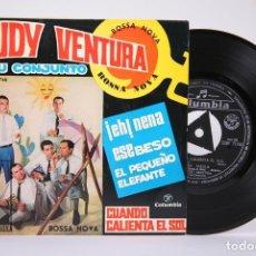 Discos de vinilo: DISCO EP DE VINILO - RUDY VENTURA Y SU CONJUNTO / CUANDO CALIENTA EL SOL.... - COLUMBIA - AÑO 1962. Lote 191801825