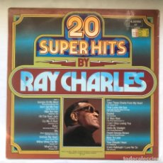 Discos de vinilo: RAY CHARLES 20 SUPER HITS BY RAY CHARLES_1976. Lote 191810036