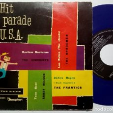 Discos de vinilo: VARIOS - THE VISCOUNTS / THE SPACEMEN / THE FRANTICS / SANDY NELSON - HIT PARADE - EP 1960 -TOP RANK. Lote 191816613
