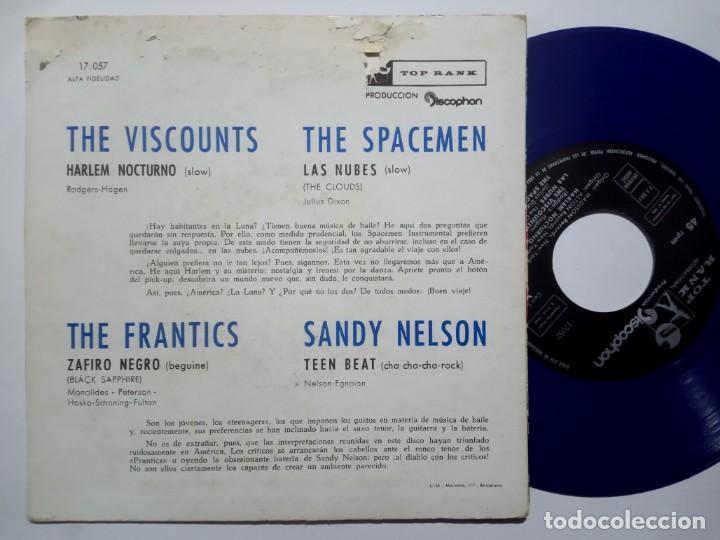 Discos de vinilo: VARIOS - THE VISCOUNTS / THE SPACEMEN / THE FRANTICS / SANDY NELSON - hit parade - EP 1960 -TOP RANK - Foto 2 - 191816613