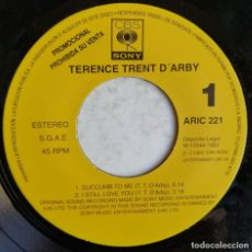 Discos de vinilo: TERENCE TRENT D'ARBY ‎– SUCCUMB TO ME I STILL LOVE YOU SEASONS LET HER DOWN EASY, CBS/SONY ARIC 2. Lote 191817233