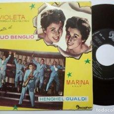 Discos de vinilo: DUO BLENGIO - VIOLETTE / TORTORELLA + HENGHEL GUALDI MARINA / LILLY - EP 1960 - DISCOPHON. Lote 191817976