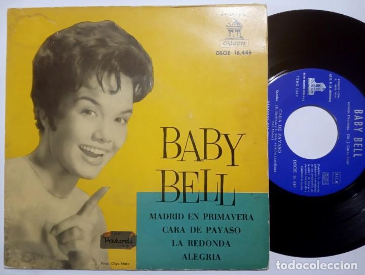 BABY BELL - MADRID EN PRIMAVERA - EP 1961 - ODEON (Música - Discos de Vinilo - EPs - Solistas Españoles de los 50 y 60)
