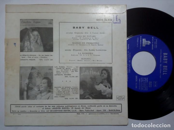 Discos de vinilo: BABY BELL - madrid en primavera - EP 1961 - ODEON - Foto 2 - 191820178