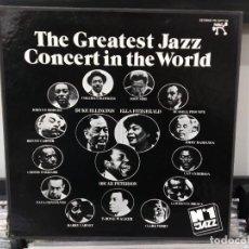 Discos de vinilo: CAJA 4 LP THE GREATEST JAZZ CONCERT IN THE WORLD VG++. Lote 191830025