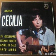 Discos de vinilo: CECILIA Y LOS SONOR - ¿TÚ RECUERDAS? + 3 ****** RARO EP ESPAÑOL 1964. Lote 191835210