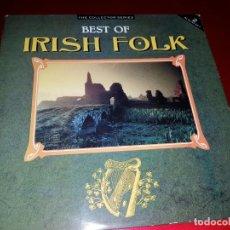 Discos de vinilo: LP- DOBLE-BEST OF IRISH FOLK-PERFECTO ESTADO-VER FOTOS. Lote 191847107