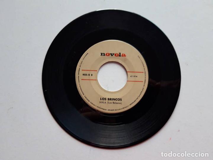 Discos de vinilo: Los Brincos, Borracho, Sola, 1965, Novola. Sólo el disco - Foto 2 - 191856025