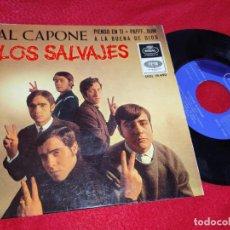 Discos de vinilo: LOS SALVAJES AL CAPONE/PIENSO EN TI/PAFFF...BUM/A LA BUENA DE DIOS EP 1966 REGAL PROMO. Lote 191860175