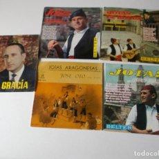 Discos de vinilo: LOTE, JOTAS, DE ARAGON 5 EPS, MIRAR FOTOS. Lote 191881498