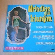 Discos de vinilo: MELODIAS QUE TRIUNFAN - JOLANDA ROSSIN Y ERNESTO BONINO, EP, TANGO ITALIANO + 3, AÑO 1962. Lote 191887932