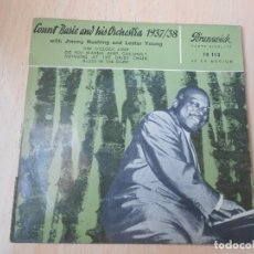 Discos de vinilo: COUNT BASIE AND HIS ORCHESTRA 1937-38, EP, ONE O´CLOCK JUMP + 3, AÑO 19?? MADE IN GERMANY. Lote 191889083