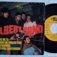 Discos de vinilo: ALBERT BAND - LEJOS DE TI / SONIDO DE INQUIETUD / EL DESARME / SIEMPRE CANTANDO - EP 1968 - EKIPO. Lote 191893108