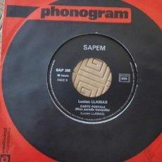 Discos de vinilo: LUCIEN LLAMAS – TU COURS TU COURS SELLO: SAPEM – SAP 286 FORMATO: VINYL, 7 , 45 RPM PAÍS: FRANCE. Lote 191896680