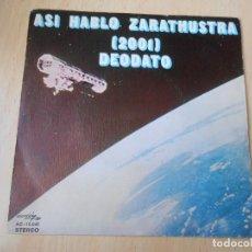 Discos de vinilo: EUMIR DEODATO - 2001 ODISEA EN EL ESPACIO -, SG, ALSO SPRACH ZARATHUSTRA + 1, AÑO 1973. Lote 191897072