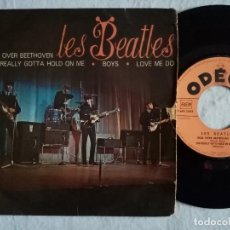 Discos de vinilo: LES BEATLES - ROLL OVER BEETHOVEN / YOU REALLY GOTTA HOLD ON ME / BOYS / LOVE ME DO - EP FRANCES. Lote 191898140