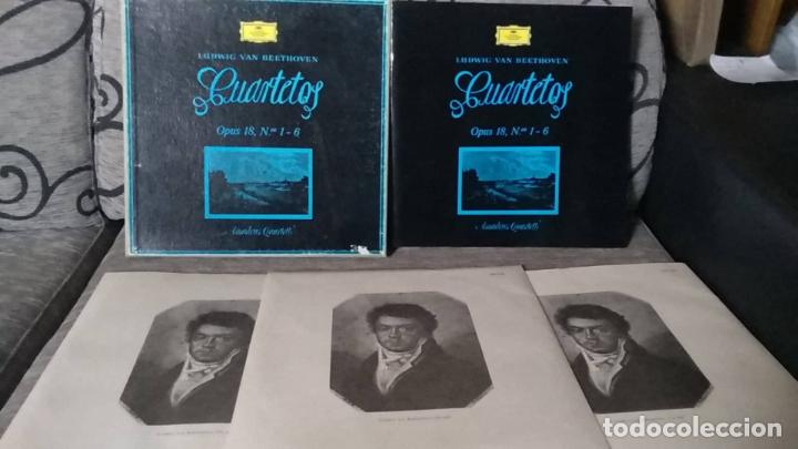 LUDWIG VAN BEETHOVEN . CUARTETOS OPUS 18 Nº1 - 6 (Música - Discos de Vinilo - Maxi Singles - Clásica, Ópera, Zarzuela y Marchas)