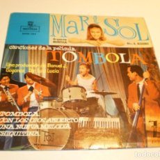 Discos de vinilo: SINGLE MARISOL. TÓMBOLA. CON LOS OJOS ABIERTOS. UNA NUEVA MELODÍA. CHIQUITINA. MONTILLA 1962 PROBADO. Lote 191905873