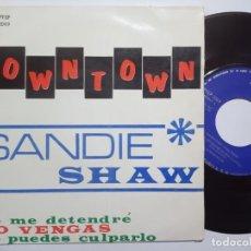 Discos de vinilo: SANDIE SHAW - DOWNTOWN - EP 1965 - PYE. Lote 191911795
