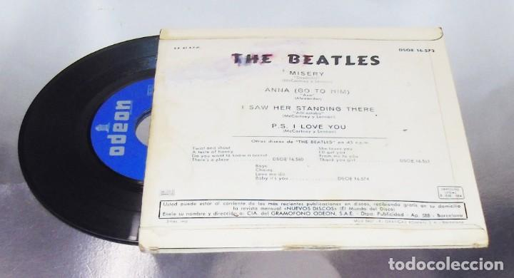 Discos de vinilo: THE BEATLES---I SAW HER STANDING THERE & ANA & MISERY & P.S.I LOVE YOU ***COL *** - Foto 2 - 191913422