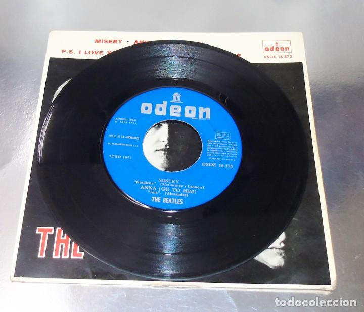 Discos de vinilo: THE BEATLES---I SAW HER STANDING THERE & ANA & MISERY & P.S.I LOVE YOU ***COL *** - Foto 3 - 191913422