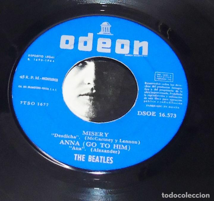 Discos de vinilo: THE BEATLES---I SAW HER STANDING THERE & ANA & MISERY & P.S.I LOVE YOU ***COL *** - Foto 4 - 191913422