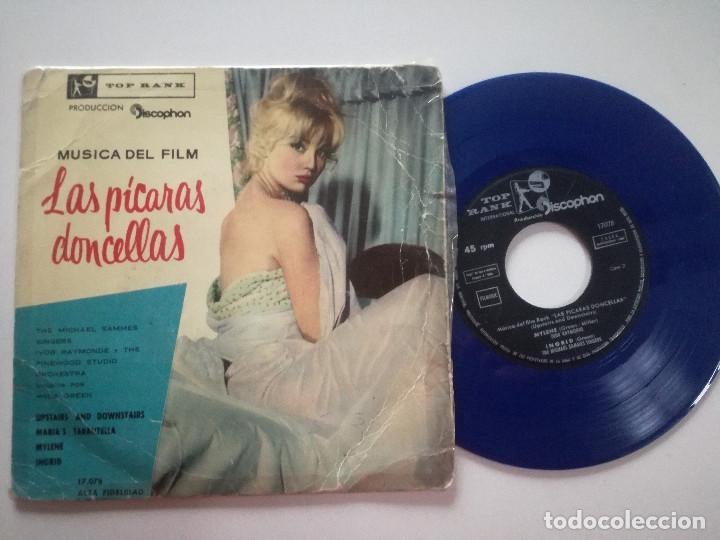 MUSICA DEL FILM LAS PICARAS DONCELLAS - EP TOP RANK DISCOPHON 1960 // VINILO AZUL IVOR RAYMONDE (Música - Discos de Vinilo - EPs - Bandas Sonoras y Actores)