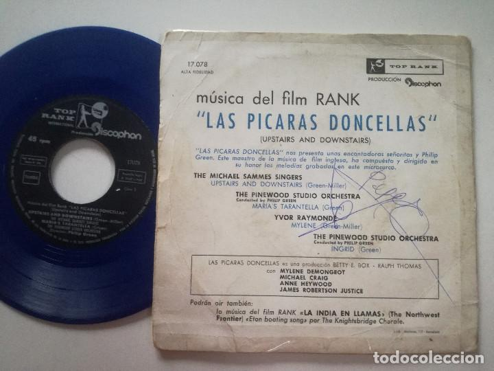 Discos de vinilo: musica del film LAS PICARAS DONCELLAS - EP TOP RANK DISCOPHON 1960 // VINILO AZUL IVOR RAYMONDE - Foto 2 - 191918367