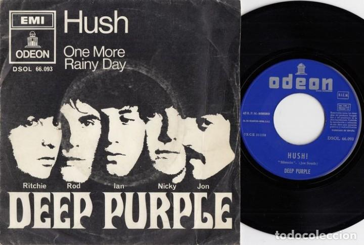 DEEP PURPLE - HUSH - SINGLE ESPAÑOL DE VINILO # (Música - Discos - Singles Vinilo - Pop - Rock - Extranjero de los 70)