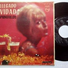Discos de vinilo: THE SPRINGFIELDS - HA LLEGADO LA NAVIDAD - EP 1963 - PHILIPS. Lote 191923592