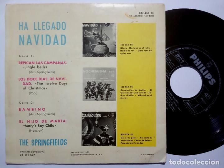 Discos de vinilo: THE SPRINGFIELDS - ha llegado la navidad - EP 1963 - PHILIPS - Foto 2 - 191923592