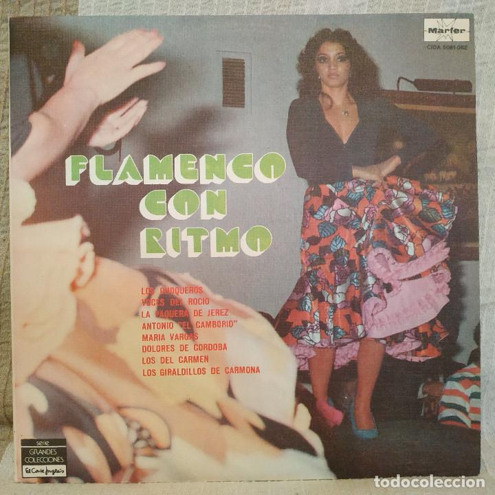 FLAMENCO CON RITMO - FANTASTICO DOBLE LP PORTADA GATEFOLD EN EXCELENTE ESTADO VER LAS FOTOS (Música - Discos - LP Vinilo - Flamenco, Canción española y Cuplé)
