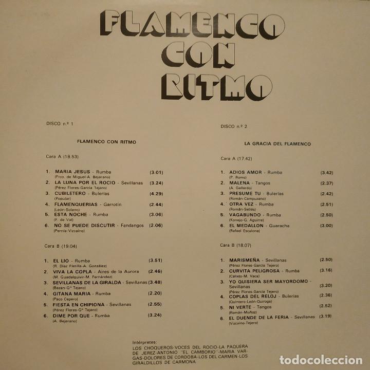 Discos de vinilo: FLAMENCO CON RITMO - FANTASTICO DOBLE LP PORTADA GATEFOLD EN EXCELENTE ESTADO VER LAS FOTOS - Foto 3 - 191936275