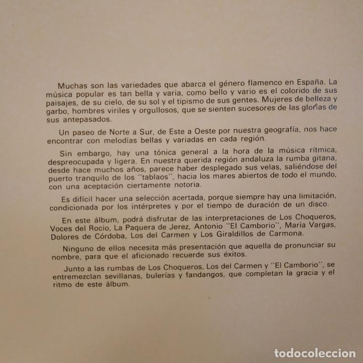 Discos de vinilo: FLAMENCO CON RITMO - FANTASTICO DOBLE LP PORTADA GATEFOLD EN EXCELENTE ESTADO VER LAS FOTOS - Foto 4 - 191936275