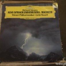 Discos de vinilo: DEUTSCHE GROMMOPHON: RICHARD STRAUSS, ALSO SPRACH. Lote 191939598