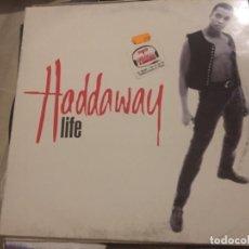 Discos de vinilo: HADDAWAY: LIFE. Lote 191940586