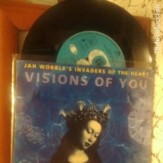Discos de vinilo: JAH WOBBLE'S INVADERS OF THE EARTH VISIONS OF YOU SINGLE EUROPA 1992 PDELUXE. Lote 191941430