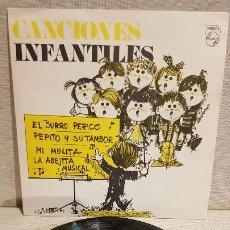 Discos de vinilo: CANCIONES INFANTILES / SINGLE - PRODUCTOS MG / DISCO REGALO / MUY BUENA CALIDAD.***/***. Lote 191952746