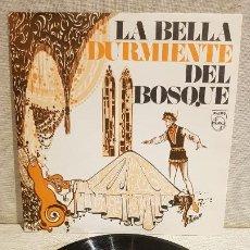 Discos de vinilo: LA BELLA DURMIENTE DEL BOSQUE / SINGLE-PRODUCTOS MG / DISCO REGALO / DE LUJO. ****/****. Lote 191952830