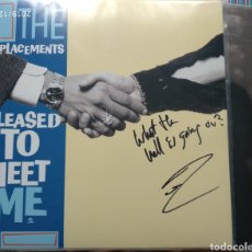 Discos de vinilo: THE REPLACEMENTS FIRMADO TOMMY STINSON. Lote 191954011