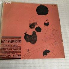 Discos de vinilo: LOS ANARQUISTAS 1904-1936. MARCHAS Y CANCIONES DE LUCHA DE LOS OBREROS ARGENTINOS. GUIÓN O. BAYER. . Lote 191958126