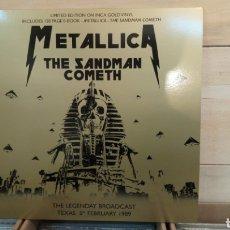 Discos de vinilo: METALLICA?- THE SANDMAN COMETH-THE LEGENDARY BROADCAST TEXAS 5 FEBRUARY 1986-LP VINILO NUEVO DORADO. Lote 191960670