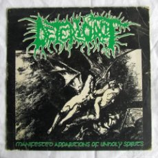 Discos de vinilo: SINGLE VINILO DETERIOROT MANIFESTED APPARITIONS OF UNHOLY SPIRITS 1993. Lote 191976010
