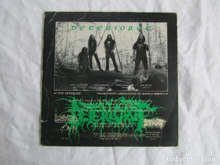 Discos de vinilo: Single vinilo Deteriorot Manifested Apparitions of unholy spirits 1993 - Foto 2 - 191976010