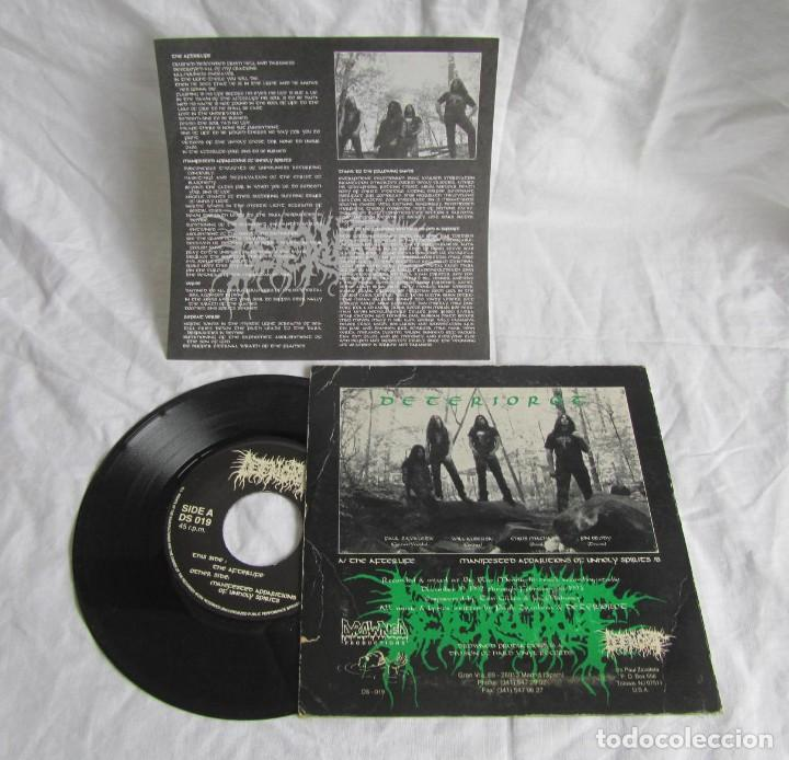 Discos de vinilo: Single vinilo Deteriorot Manifested Apparitions of unholy spirits 1993 - Foto 3 - 191976010