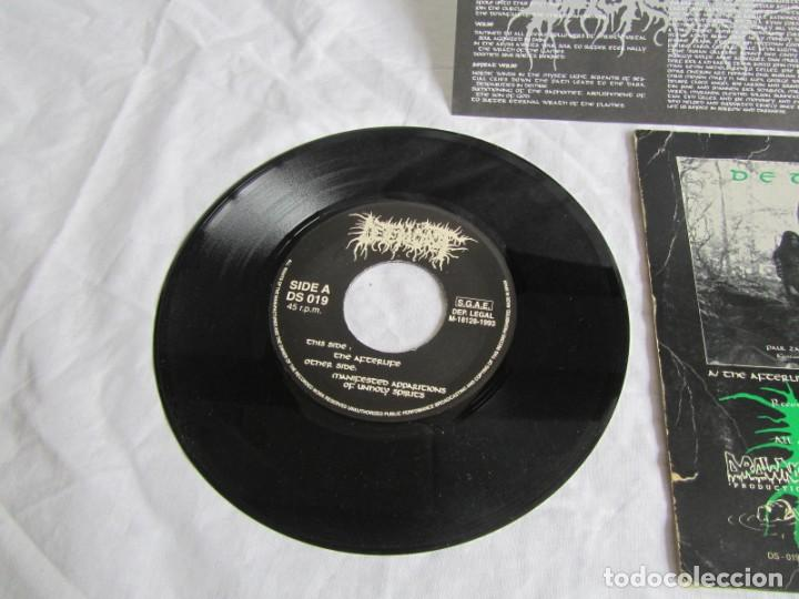 Discos de vinilo: Single vinilo Deteriorot Manifested Apparitions of unholy spirits 1993 - Foto 4 - 191976010